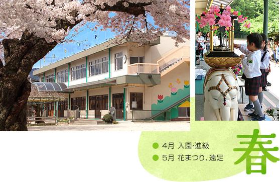 「春」 4月:入園・進級 5月:花まつり、遠足